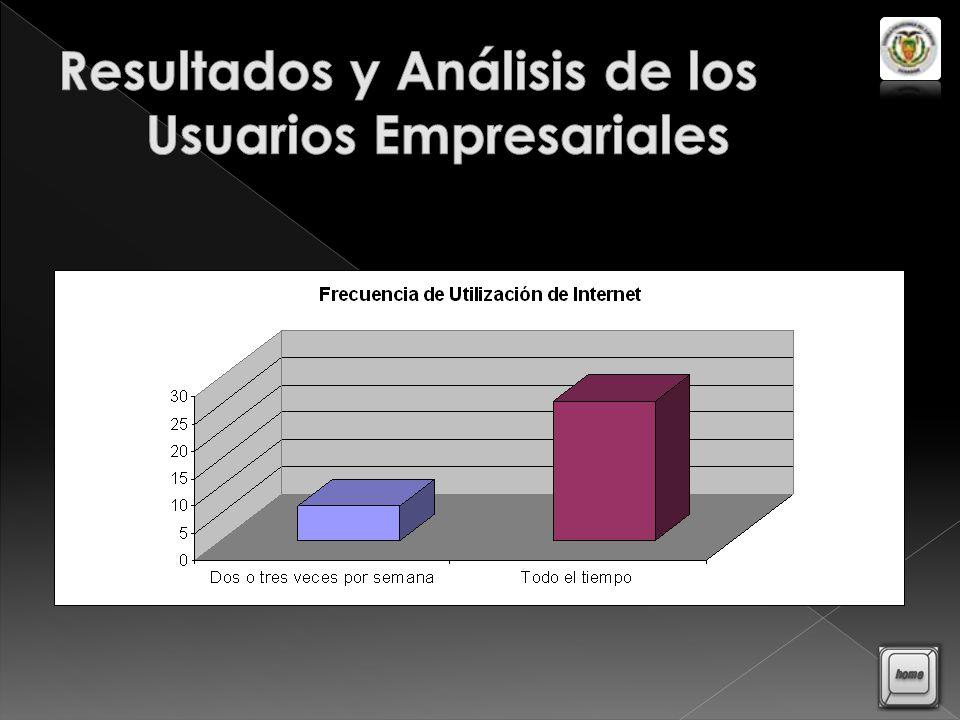 Resultados y Análisis de los Usuarios Empresariales