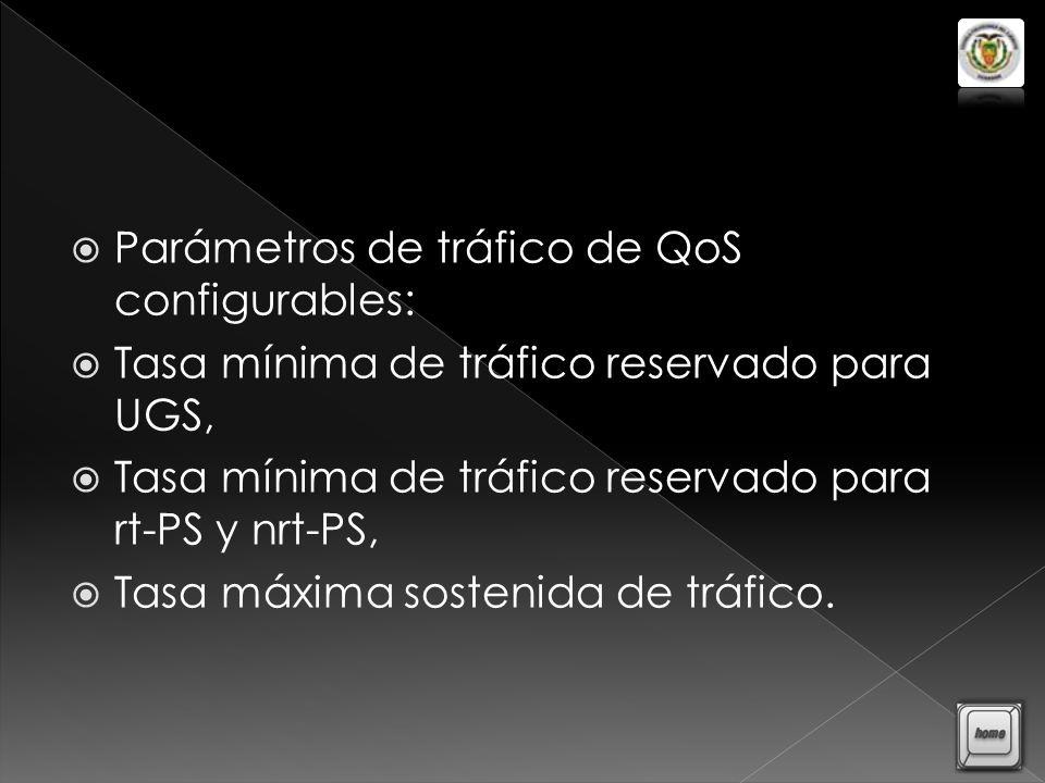 Parámetros de tráfico de QoS configurables: