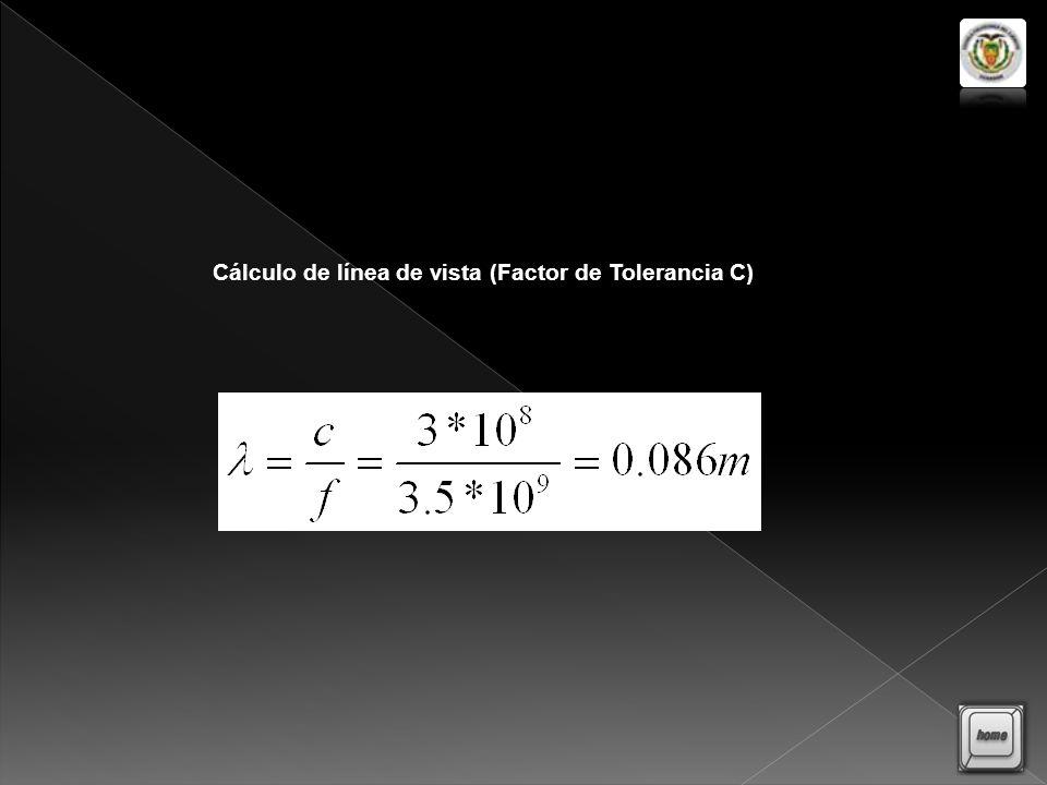 Cálculo de línea de vista (Factor de Tolerancia C)