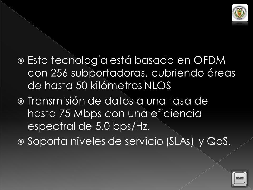 Esta tecnología está basada en OFDM con 256 subportadoras, cubriendo áreas de hasta 50 kilómetros NLOS