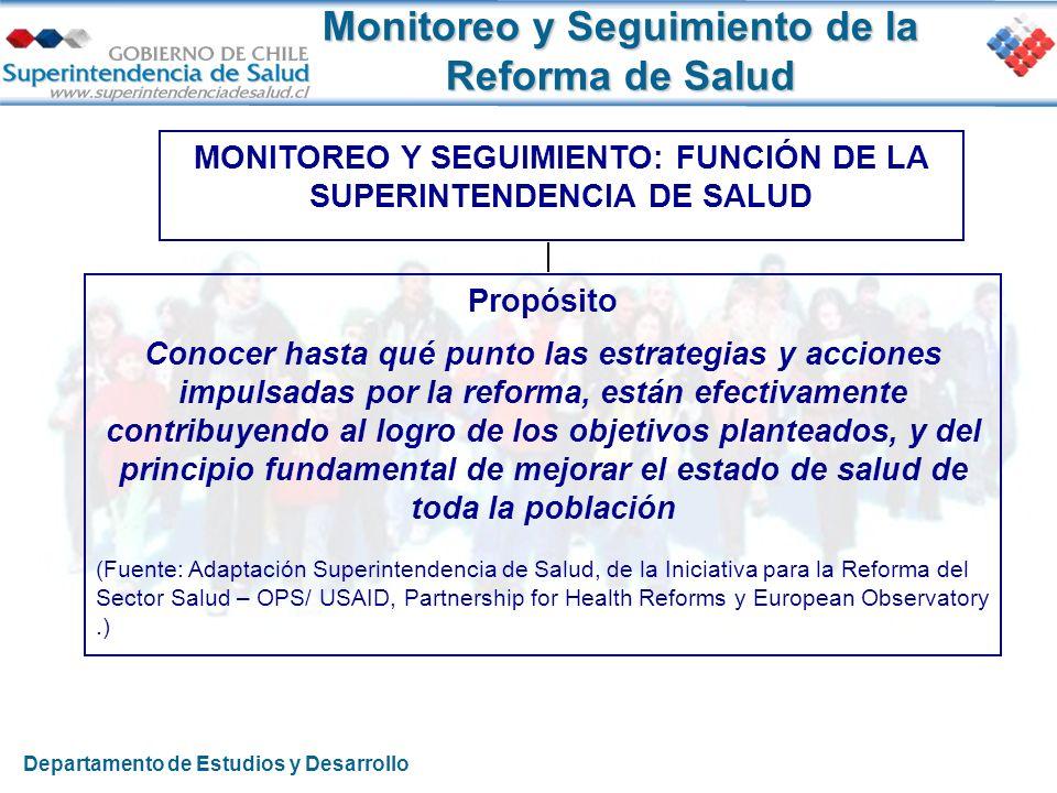 Monitoreo y Seguimiento de la Reforma de Salud