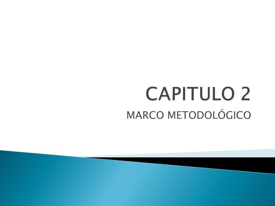 CAPITULO 2 MARCO METODOLÓGICO