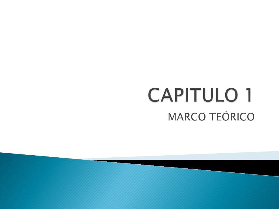 CAPITULO 1 MARCO TEÓRICO