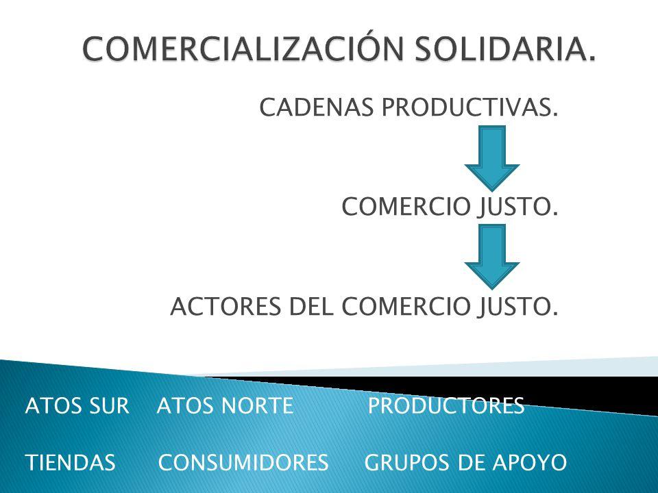 COMERCIALIZACIÓN SOLIDARIA.