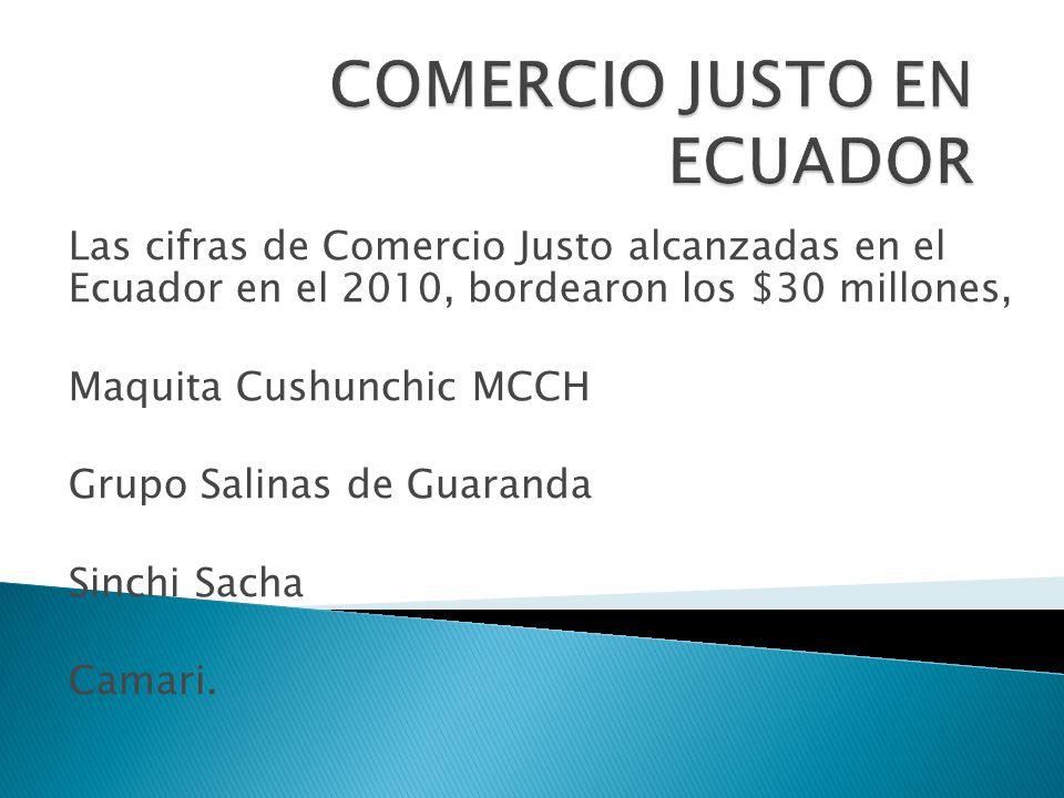 COMERCIO JUSTO EN ECUADOR