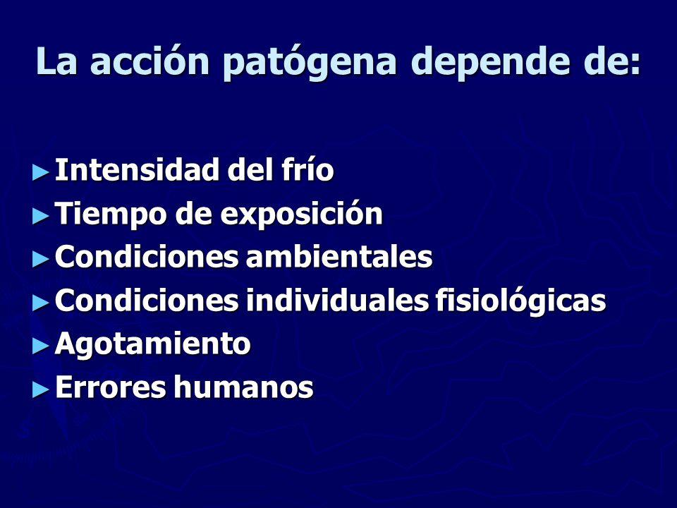 La acción patógena depende de: