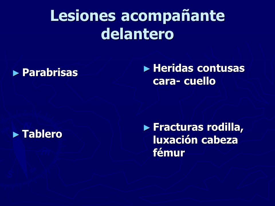 Lesiones acompañante delantero