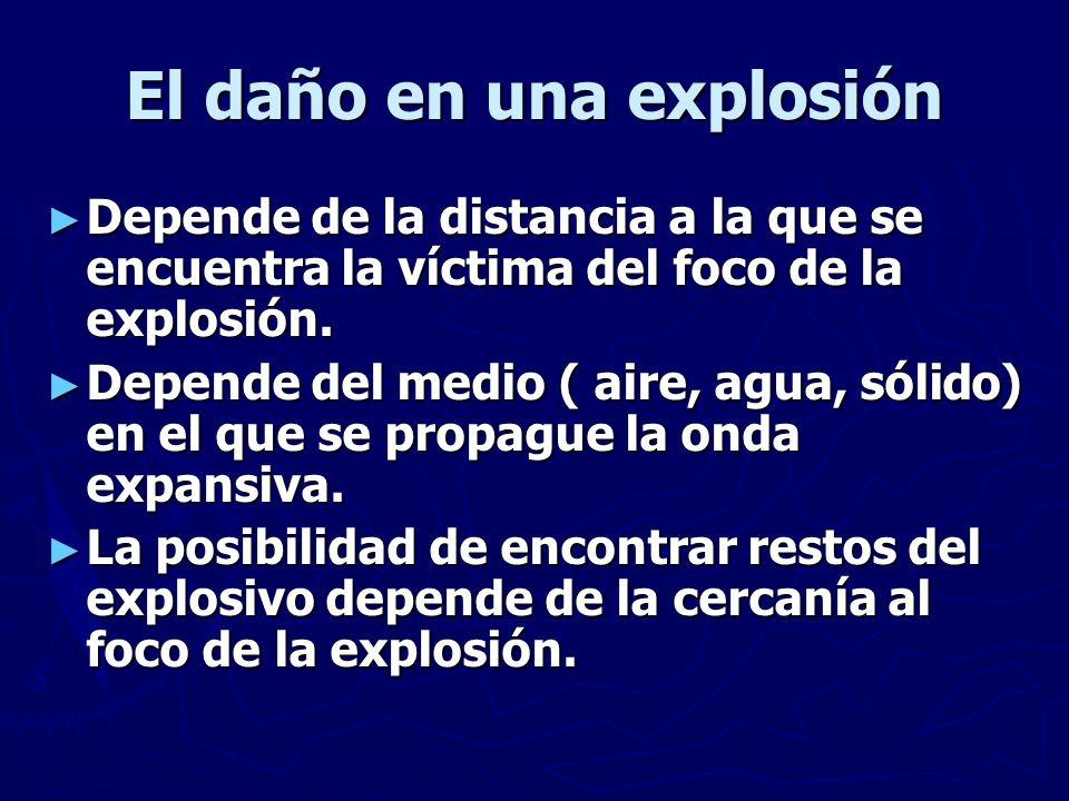 El daño en una explosión