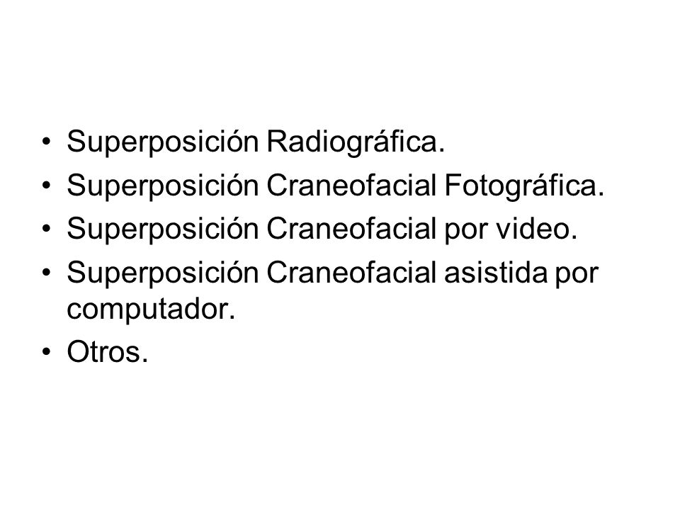 Superposición Radiográfica.
