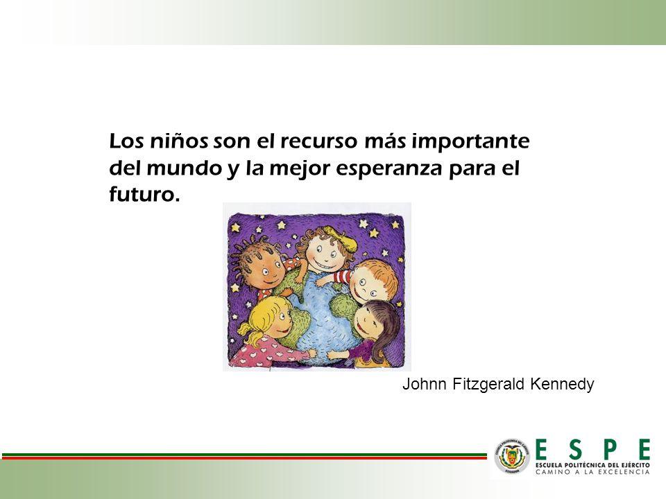 Los niños son el recurso más importante del mundo y la mejor esperanza para el futuro.