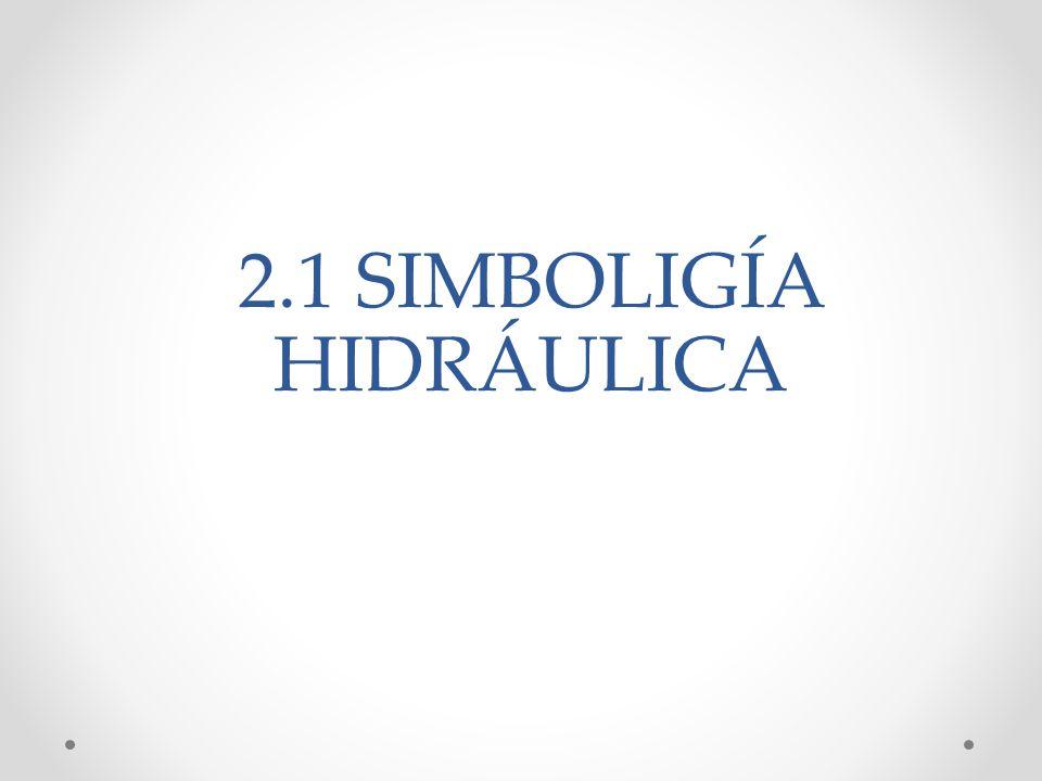 2.1 SIMBOLIGÍA HIDRÁULICA