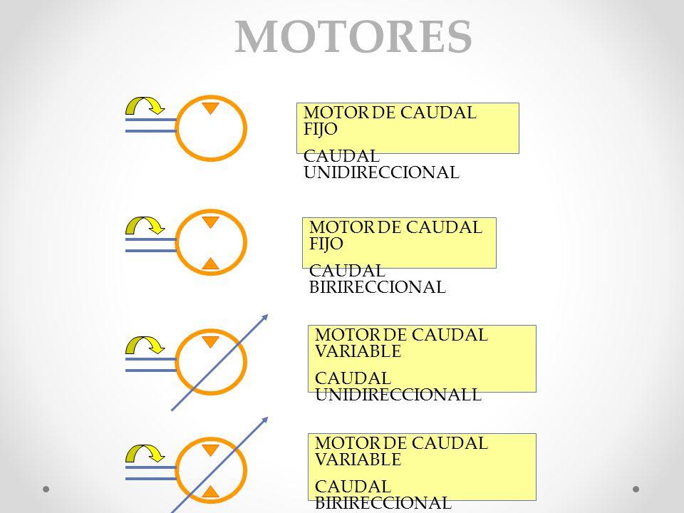 MOTORES MOTOR DE CAUDAL FIJO CAUDAL UNIDIRECCIONAL