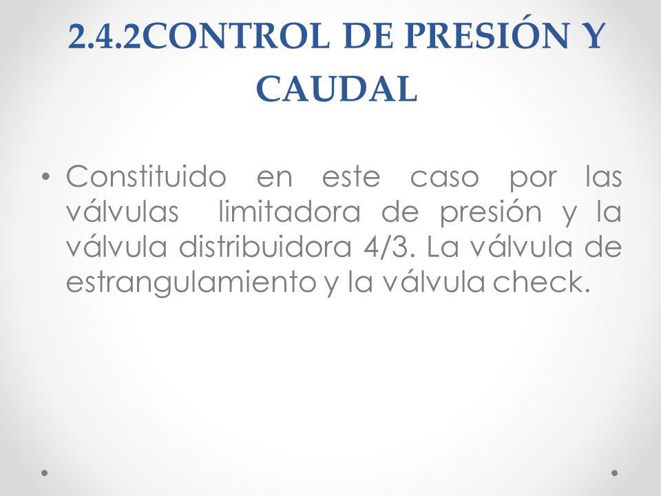 2.4.2CONTROL DE PRESIÓN Y CAUDAL