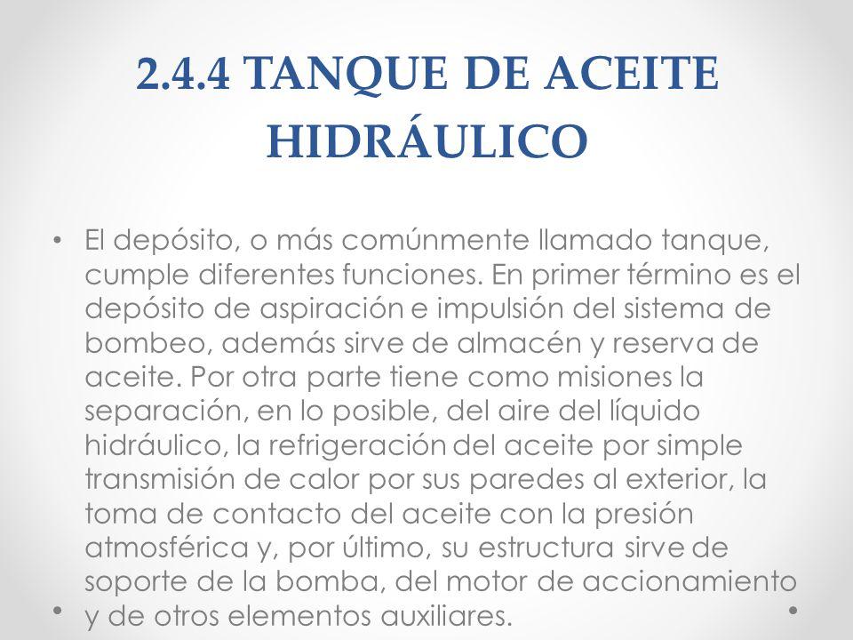 2.4.4 TANQUE DE ACEITE HIDRÁULICO