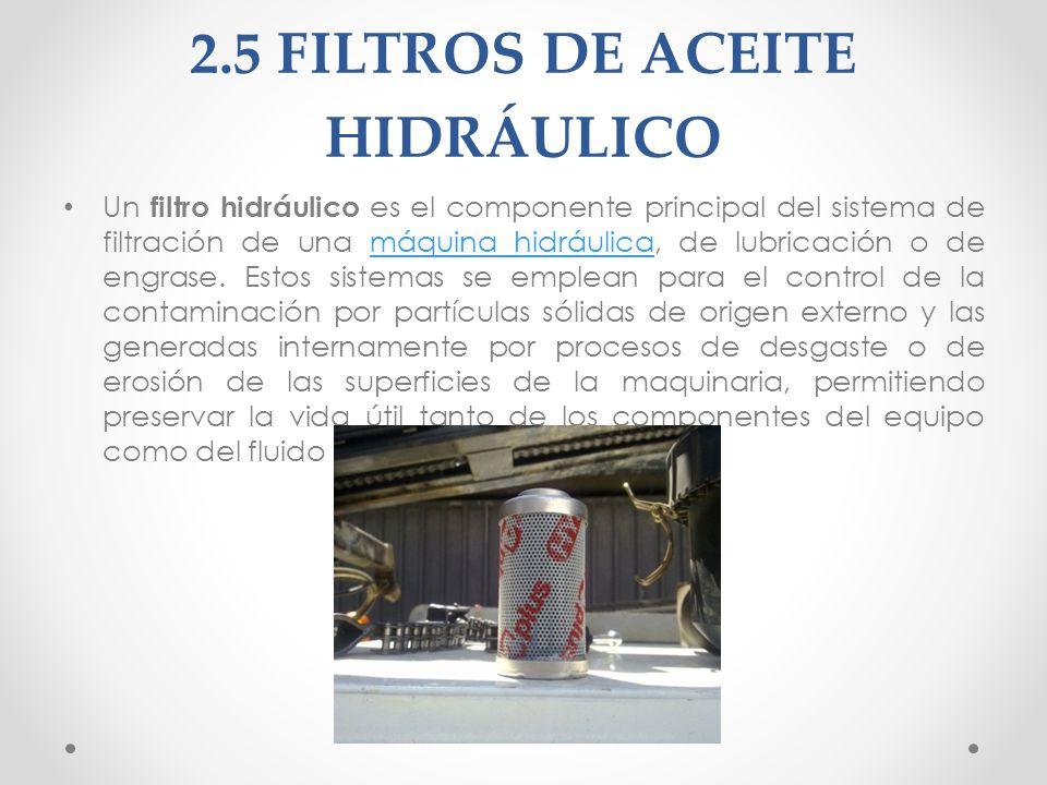2.5 FILTROS DE ACEITE HIDRÁULICO