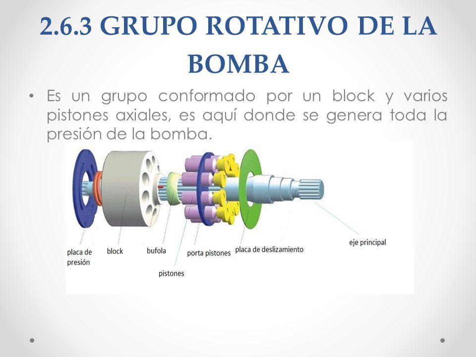 2.6.3 GRUPO ROTATIVO DE LA BOMBA