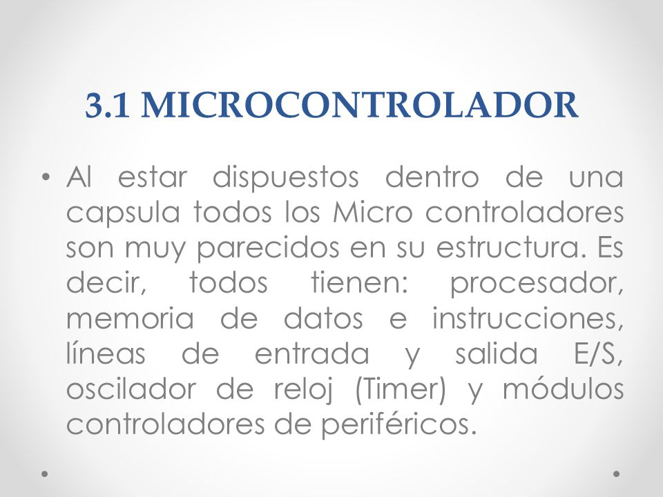 3.1 MICROCONTROLADOR