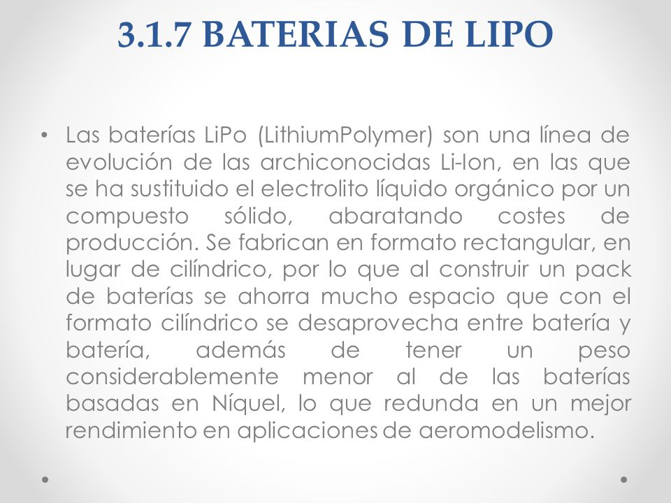 3.1.7 BATERIAS DE LIPO