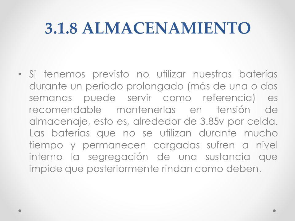 3.1.8 ALMACENAMIENTO