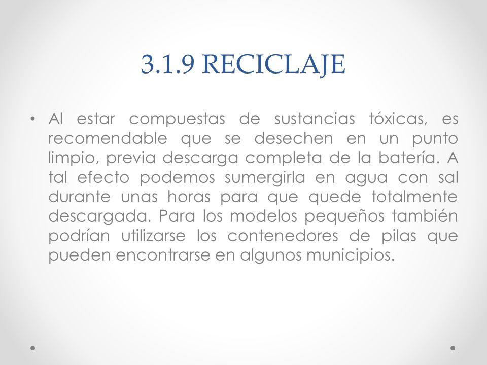 3.1.9 RECICLAJE