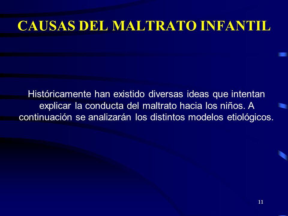 CAUSAS DEL MALTRATO INFANTIL