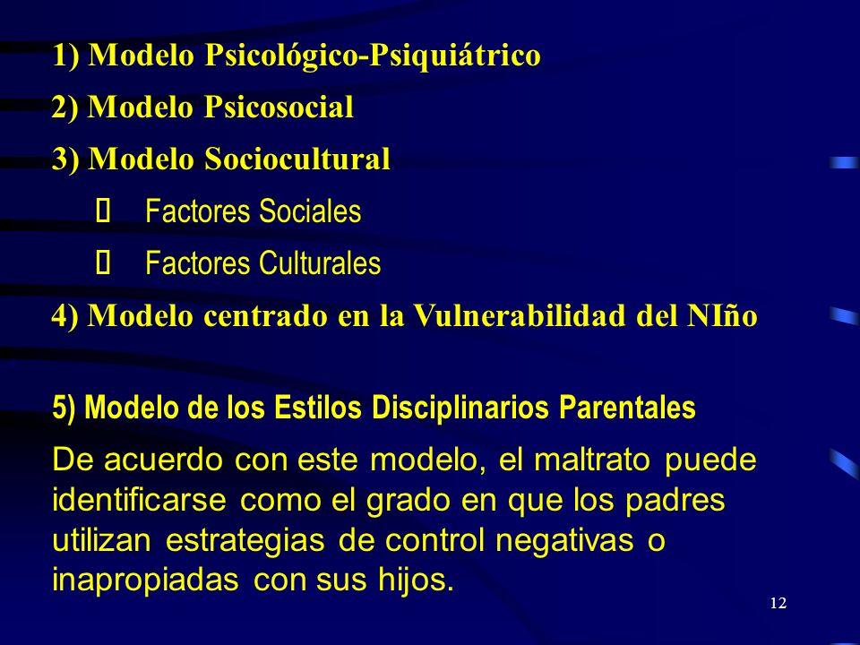 1) Modelo Psicológico-Psiquiátrico