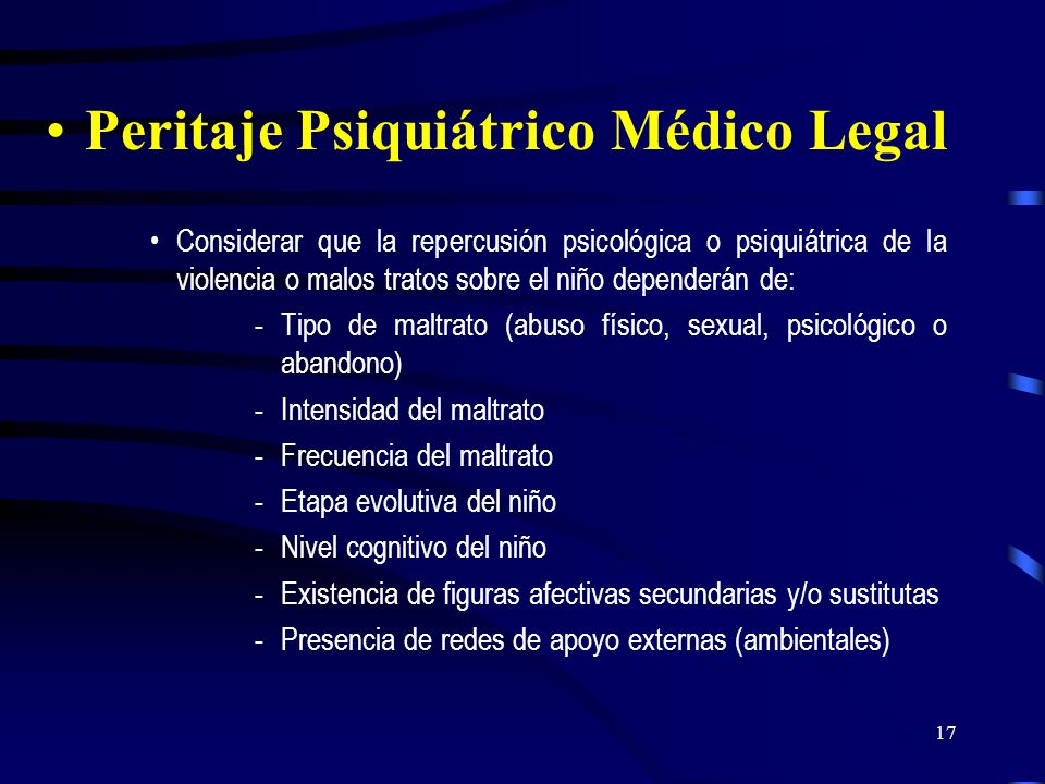 Peritaje Psiquiátrico Médico Legal