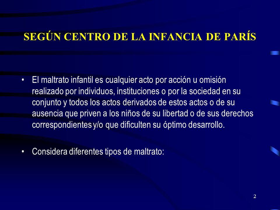 SEGÚN CENTRO DE LA INFANCIA DE PARÍS