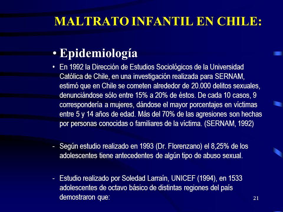 MALTRATO INFANTIL EN CHILE: