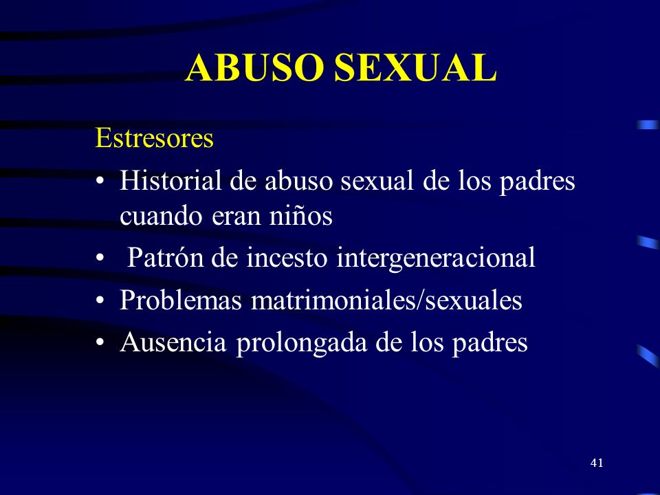 ABUSO SEXUAL Estresores