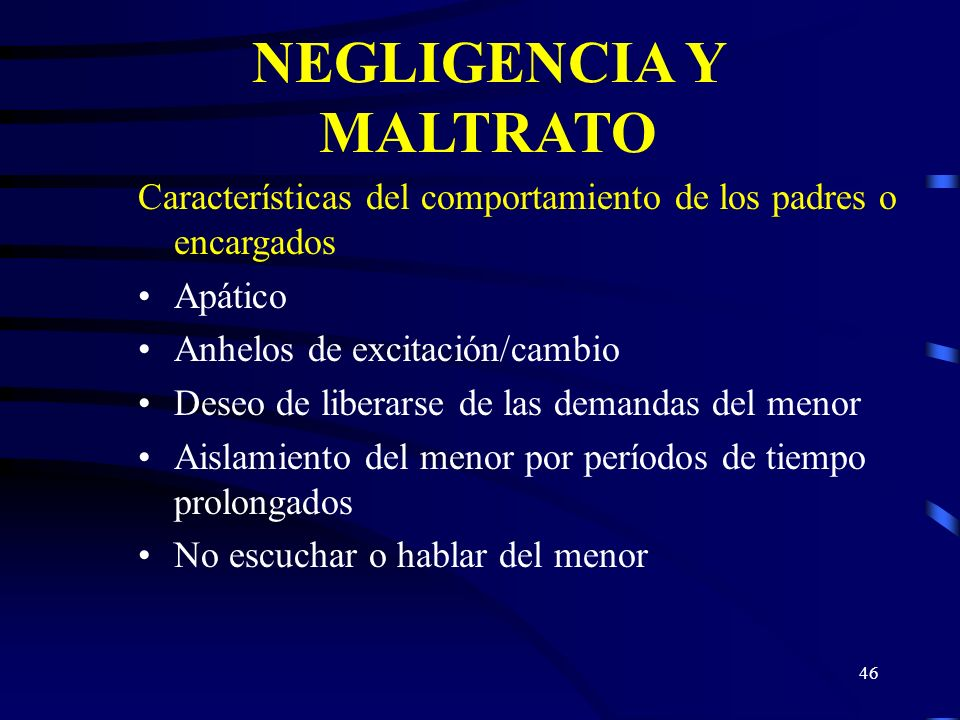 NEGLIGENCIA Y MALTRATO