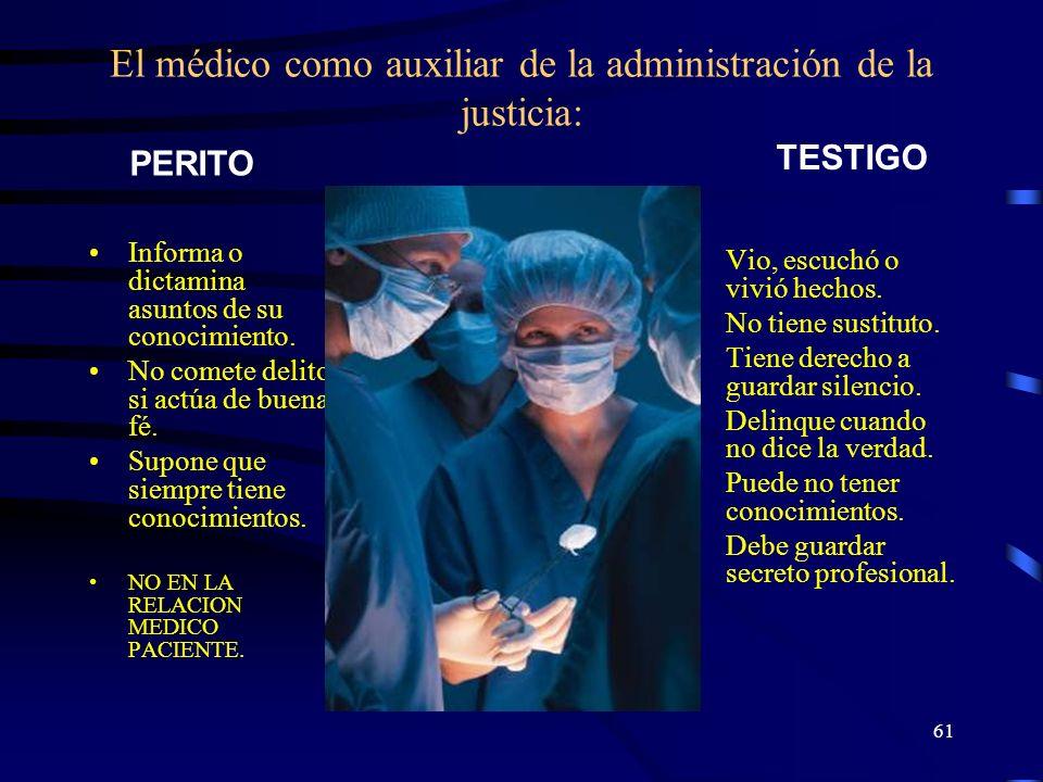 El médico como auxiliar de la administración de la justicia: