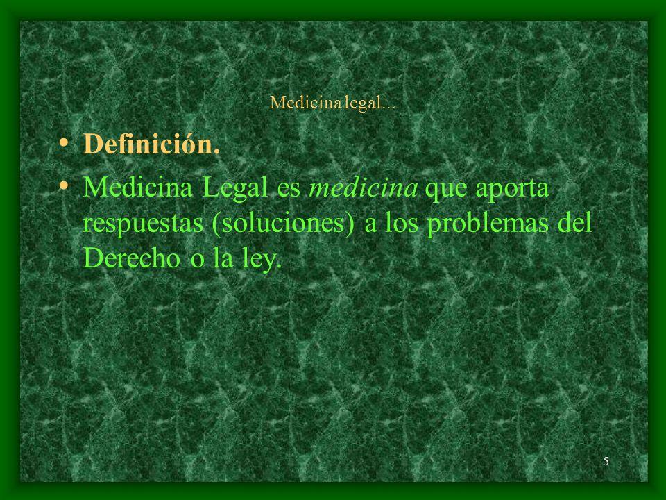 Medicina legal... Definición.