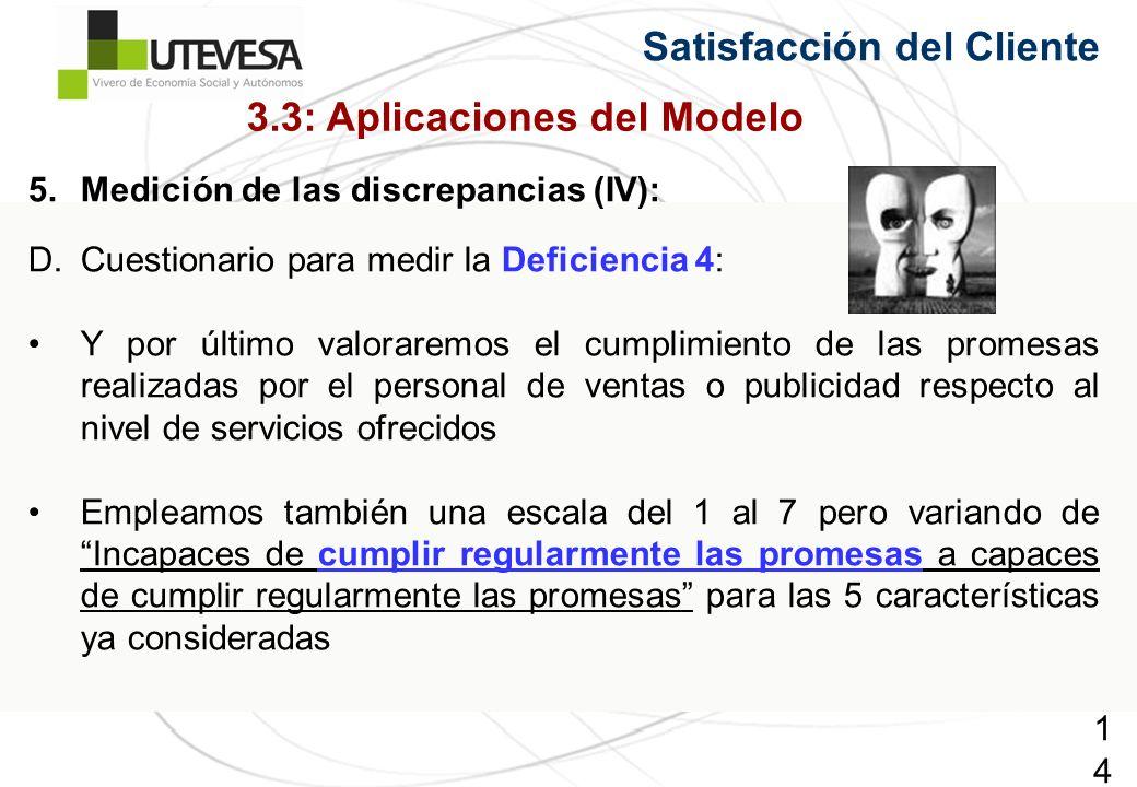 3.3: Aplicaciones del Modelo