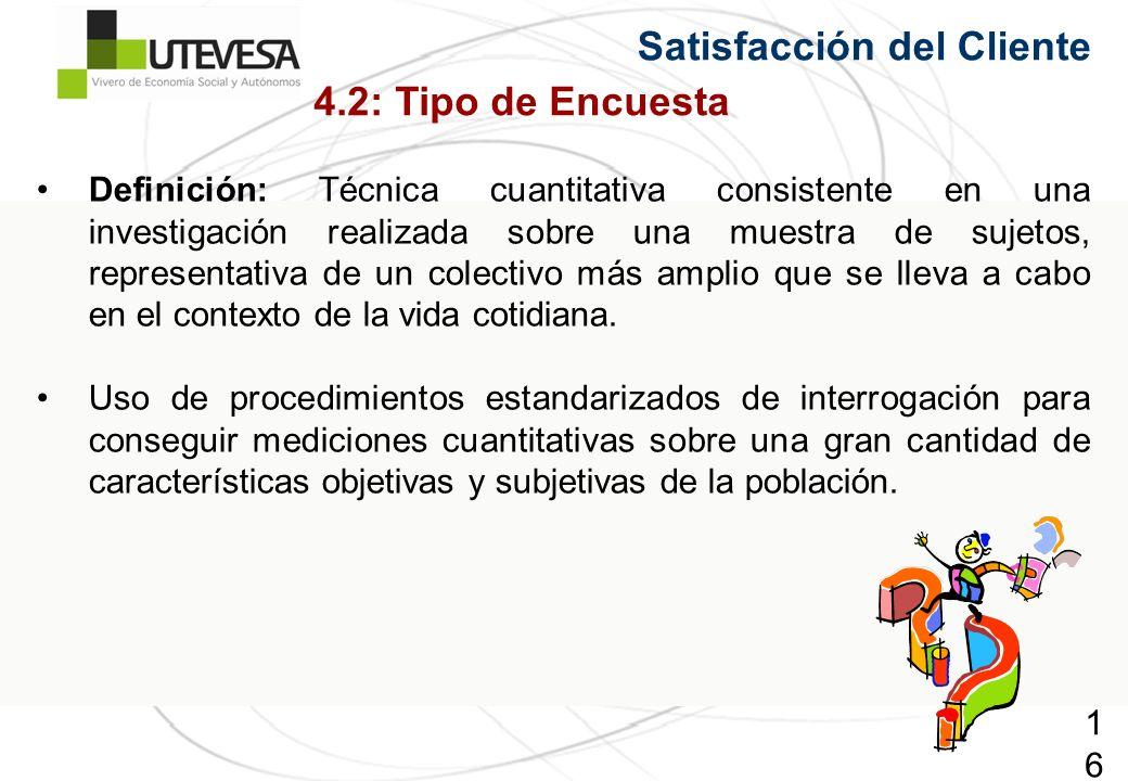 Satisfacción del Cliente 4.2: Tipo de Encuesta