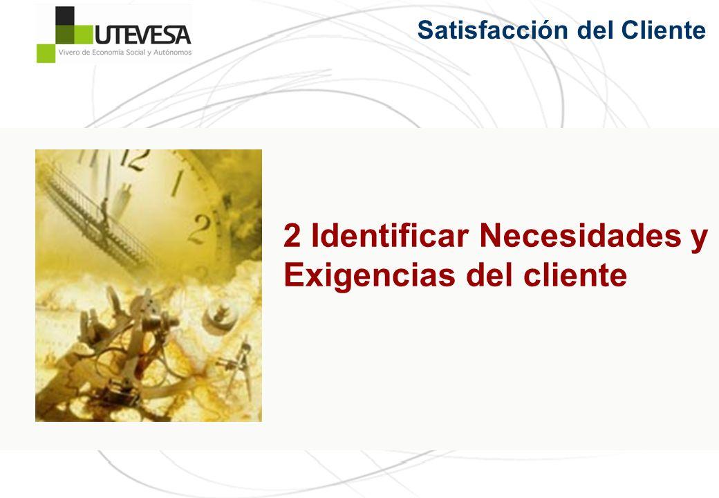 2 Identificar Necesidades y Exigencias del cliente