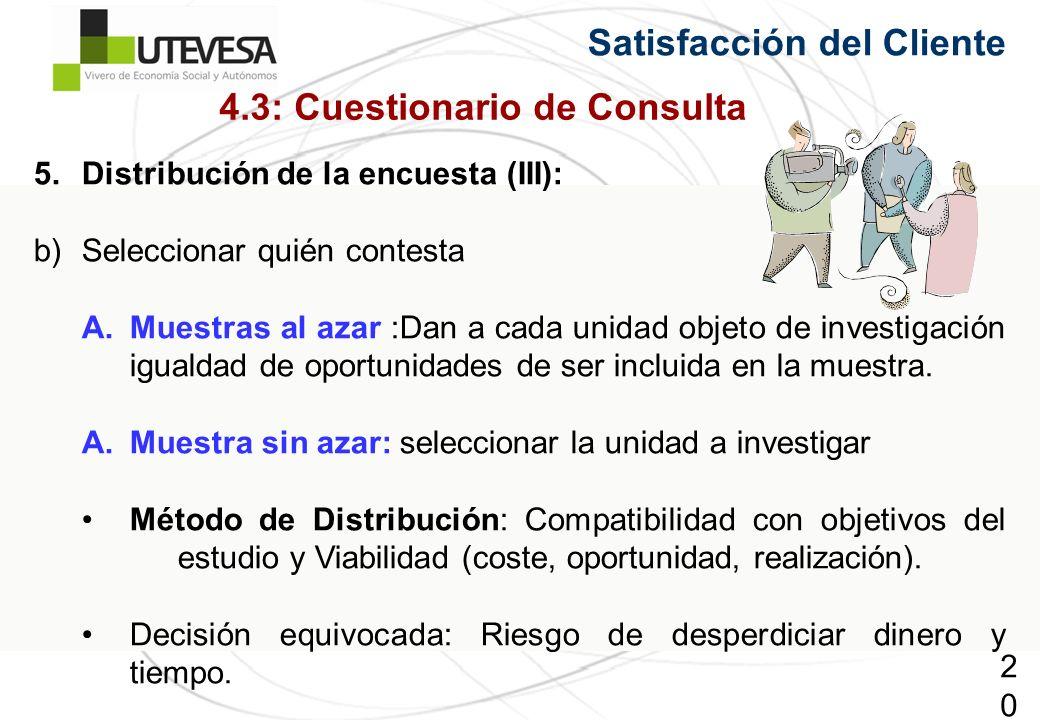 4.3: Cuestionario de Consulta