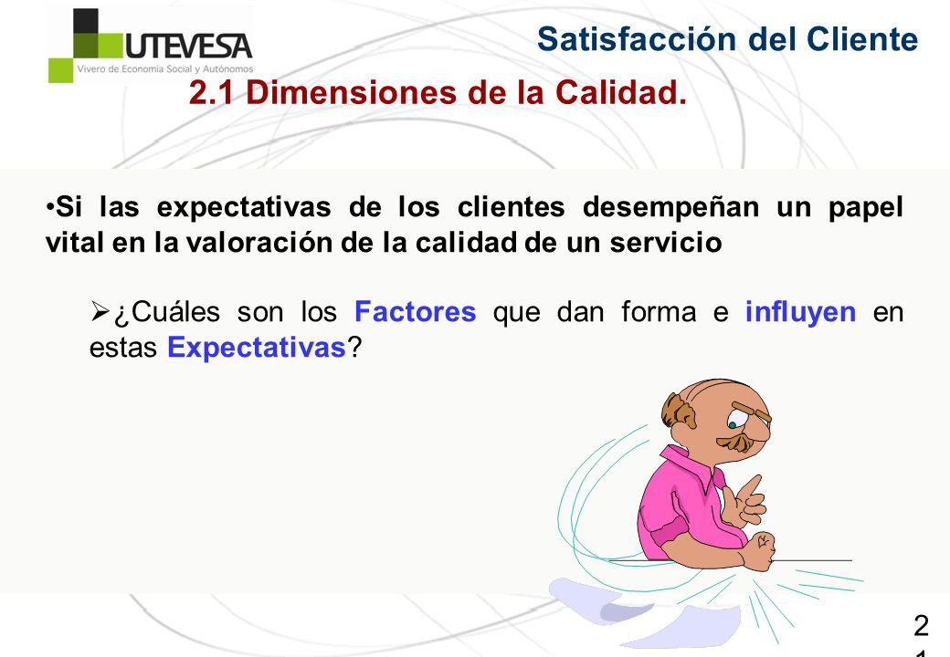 2.1 Dimensiones de la Calidad.