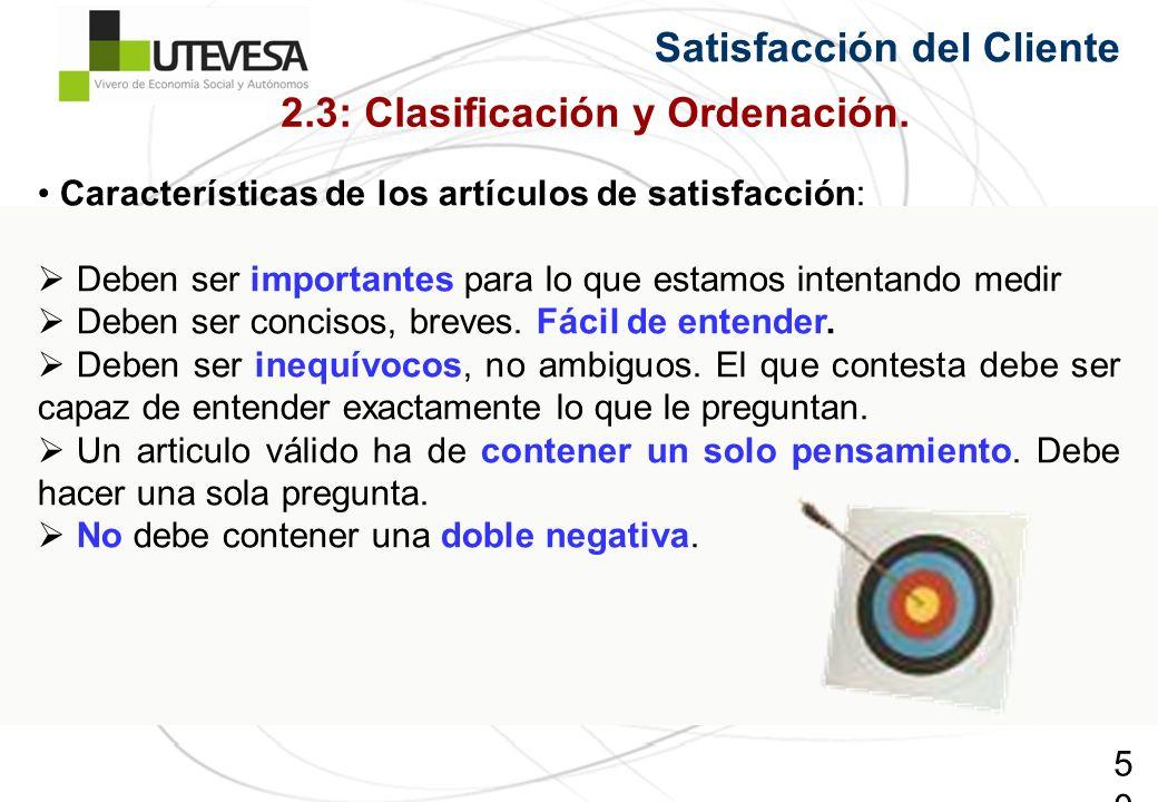 2.3: Clasificación y Ordenación.