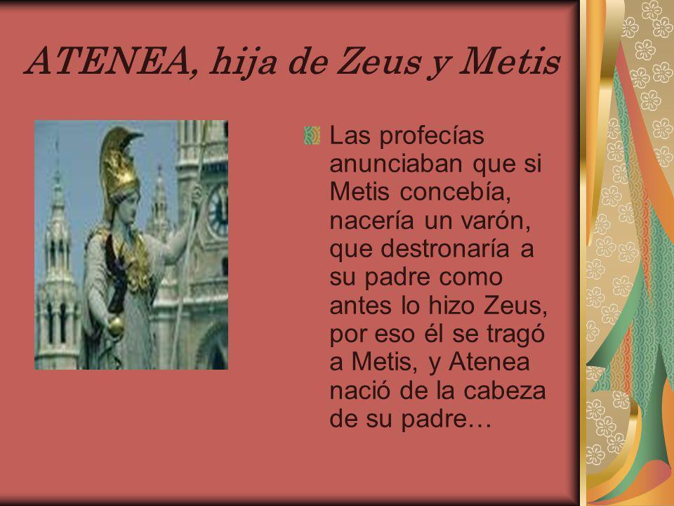 ATENEA, hija de Zeus y Metis