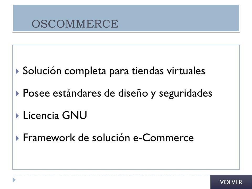 Solución completa para tiendas virtuales