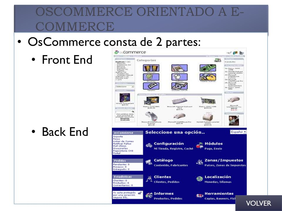 OSCOMMERCE ORIENTADO A E-COMMERCE