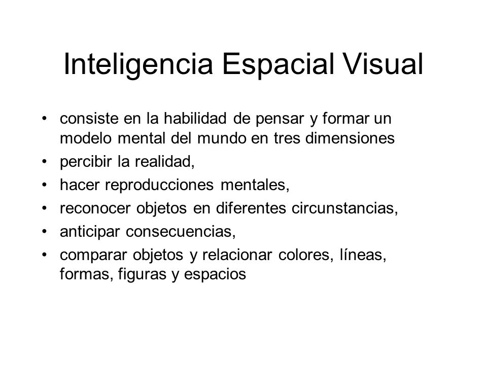 Inteligencia Espacial Visual