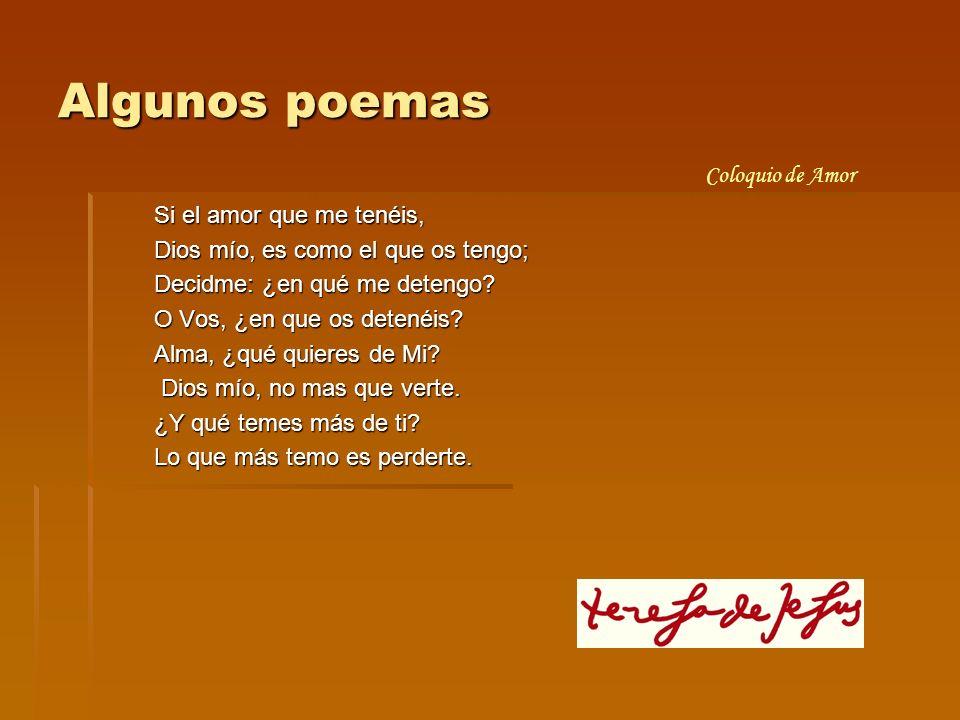 Algunos poemas Coloquio de Amor Si el amor que me tenéis,