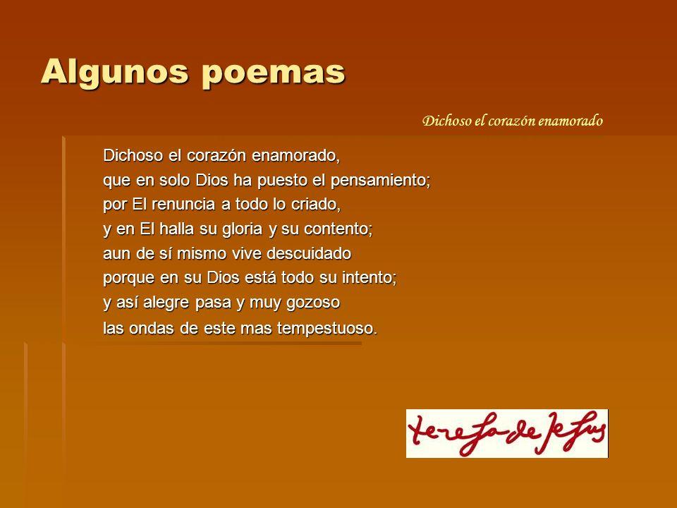 Algunos poemas Dichoso el corazón enamorado