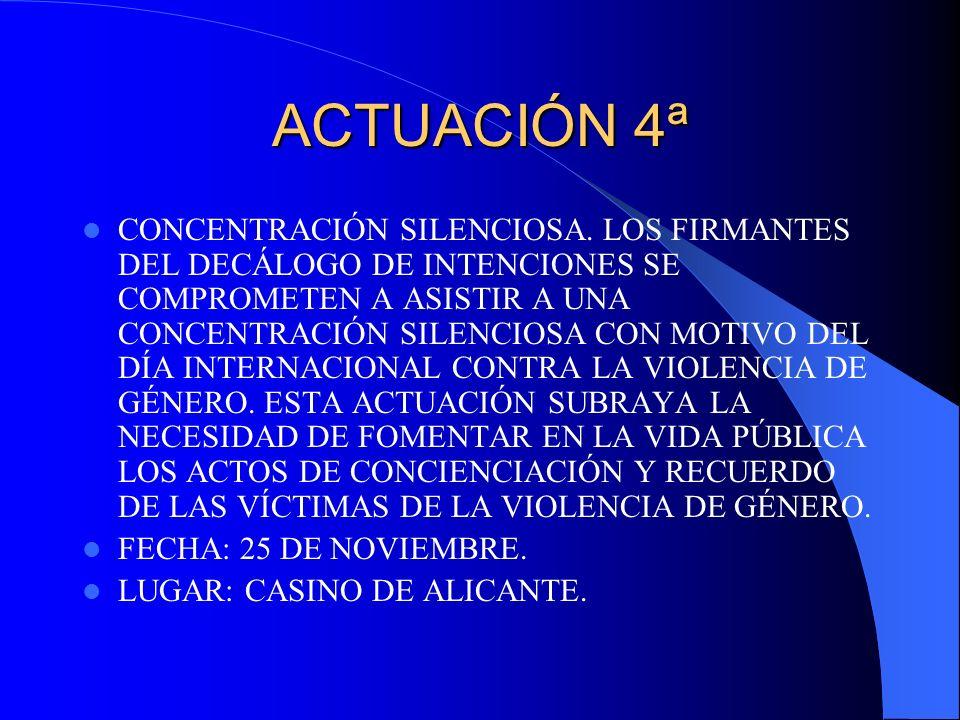 ACTUACIÓN 4ª