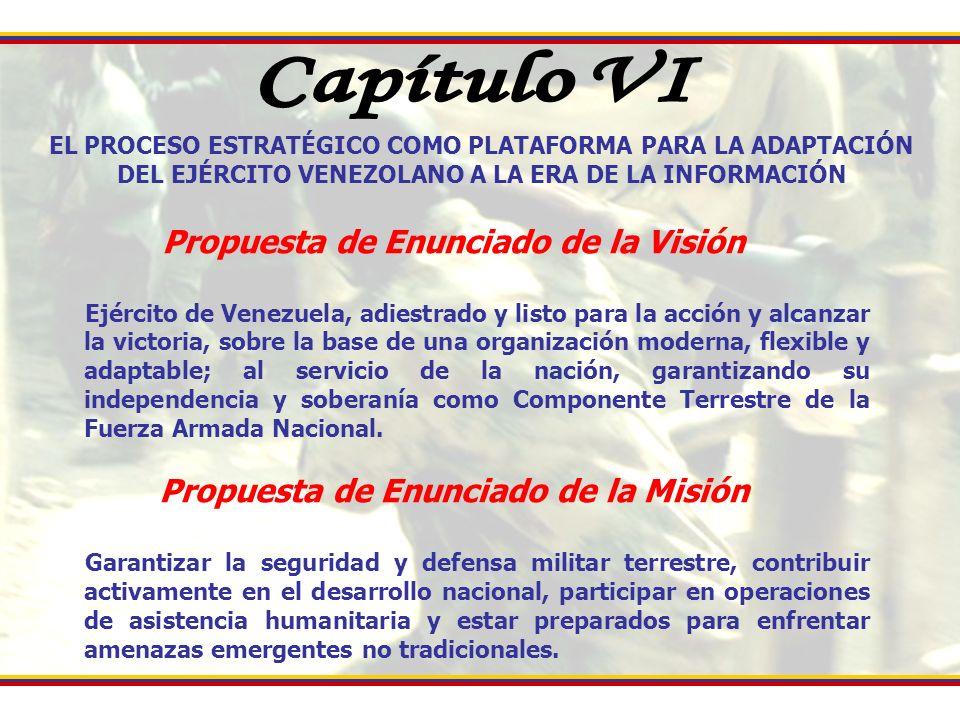 Capítulo VI Propuesta de Enunciado de la Visión