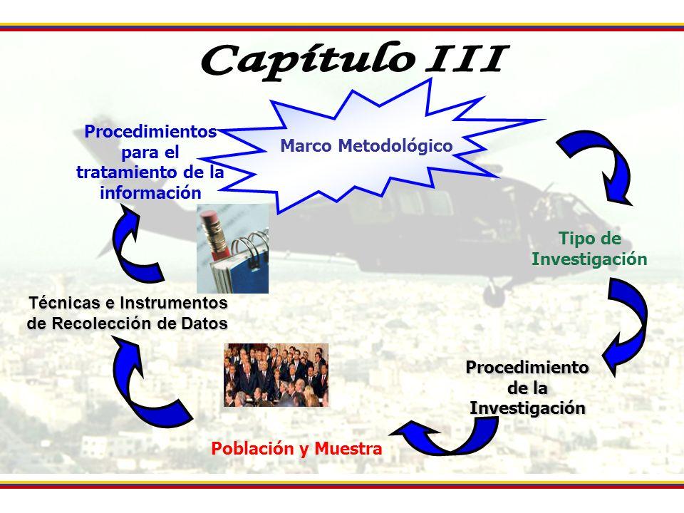 Capítulo III Procedimientos para el tratamiento de la información