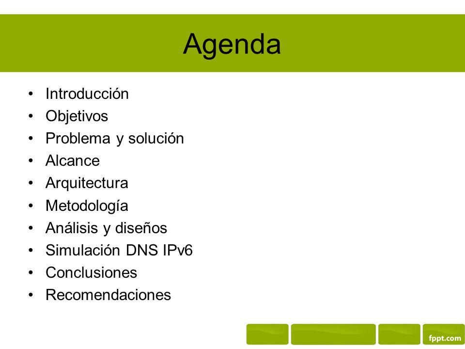 Agenda Introducción Objetivos Problema y solución Alcance Arquitectura