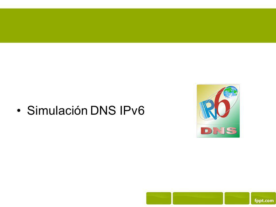 Simulación DNS IPv6